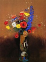 Wild Flowers In A Long Necked Vase