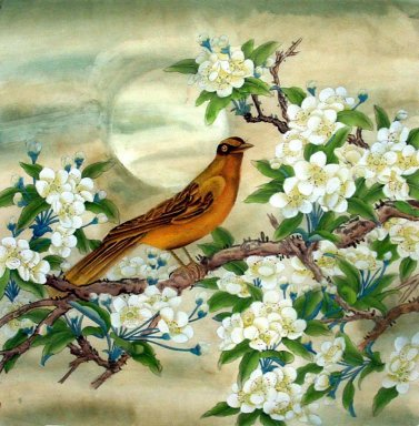 Pear&Birds - Chinese Painting