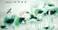 Hawthorn, Kingfisher - Lotus - pintura chinesa