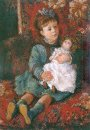 Portrait Of Germaine Hoschede With A Doll 1877