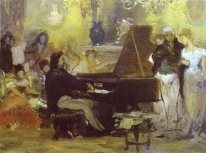 Chopin Performing in the Guest-Hall of Anton Radziville in Berli
