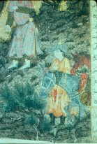 Iskandar at Israfil (detail)