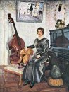 Lady with a contrabass