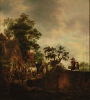 Travellers Halting at an Inn