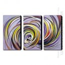 Hand-Painted Oil Paitnting Abstract - Set of 3