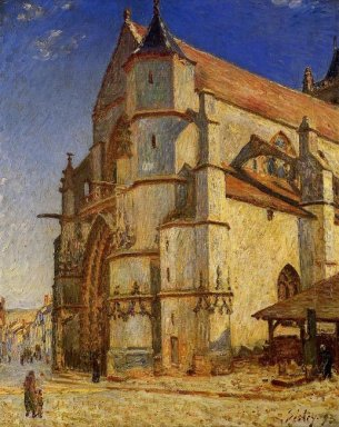 the church at moret in morning sun 1893