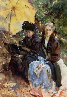 Miss Wedewood And Miss Sargent Sketching 1908