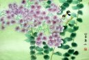 Birds-Bougainvillea - Chinese Painting