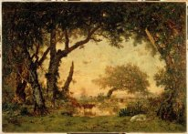 Beenden Drill Fontainebleau Sunset 1849