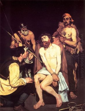 jesus mocked by the soldiers 1865