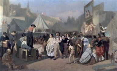 Celebration In The Outskirts Of Paris In Montmartre 1864