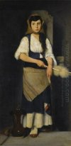 Girl with Distaff and Spindle
