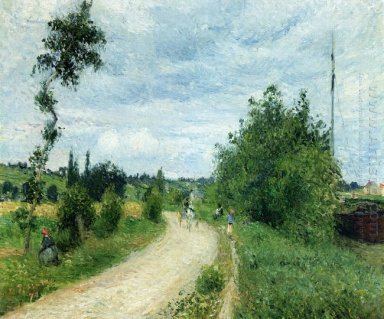 the auvers road pontoise 1879