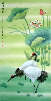 Crane-Lotus - Chinese Painting