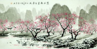 Mountains, water, flowers - Chinese Painting