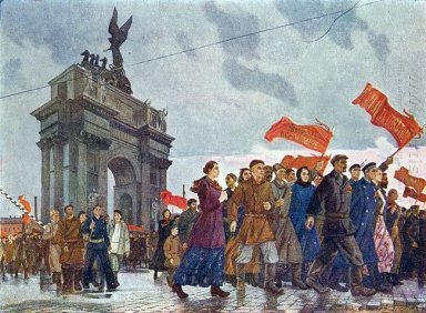 october slogans of peace in the neva gate 1960