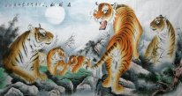Five tigers-Fu - Chinese Painting