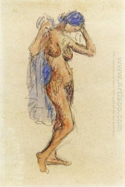 Nude Model With Drapery