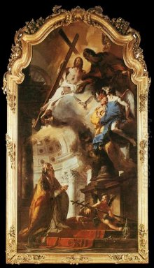 Pope St Clement Adoring The Trinity 1738
