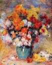 Vase Of Chrysanthemums 1890