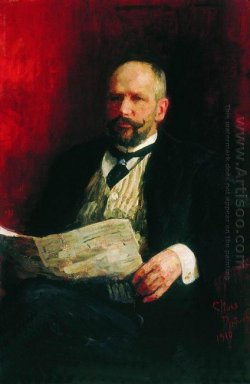 Portrait Of P A Stolypin 1910