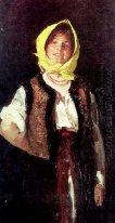 Cheerful Peasant Woman