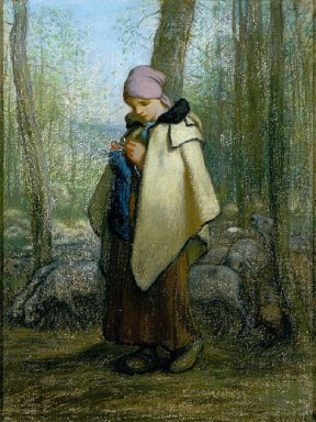 The Knitting Shepherdess 1857