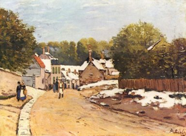 first snow in louveciennes 1870