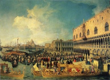 reception of the imperial ambassador at the doge s palace 1729