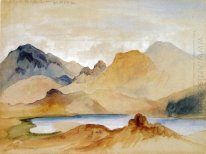 Cinnabar Mountain, Yellowstone River (watercolour)