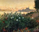 Argenteuil Flowers By The Riverbank