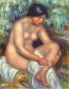 Bather Wiping A Wound 1909