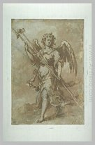 Angel Holding The Spear And Sponge Holder 1660
