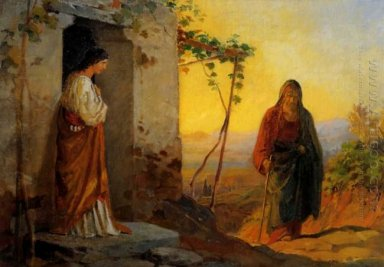 Maria Sister Of Lazarus Meets Jesus Who Is Going To Their House