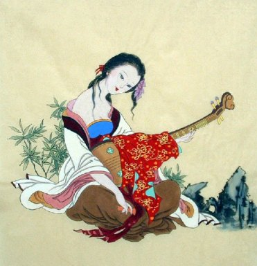 Beautiful lady-Chinese Painting