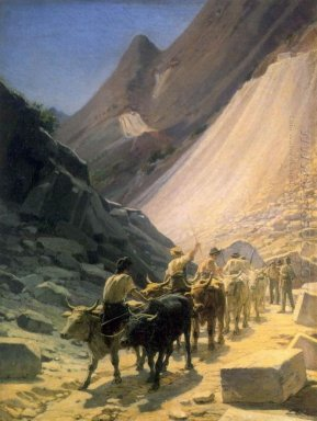 The Transportation Of Marble At Carrara