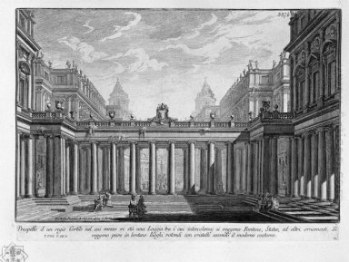 Prospect Of A Royal Courtyard With A Loggia In The Middle