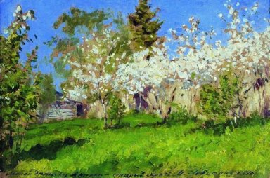 Apple Trees In Blossom 1896