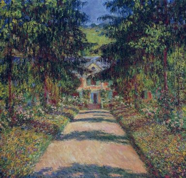 Pathway In Monets Garden At Giverny