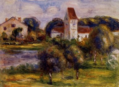 Breton Landscape Church And Orchard