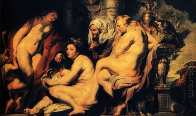 The Daughters Of Cecrops Finding The Child Erichthonius 1617