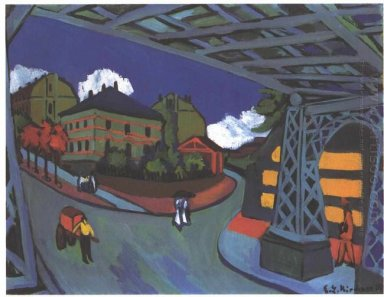 Railway Underpass In Dresden 1926