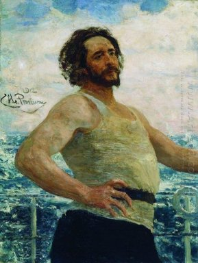 Portrait Of Writer Leonid Nikolayevich Andreyev On A Yacht 1912