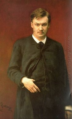 Portrait Of The Composer Alexander Glazunov 1887