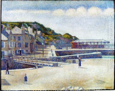 The Harbour And The Quays At Port En Bessin 1888