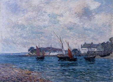 Reentering Port At Douarnenez Finistere 1906