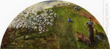 springtime peasants in a field 1882