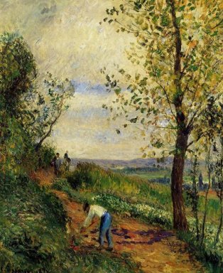landscape with a man digging 1877