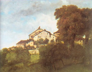 The Houses Of The Chateau D Ornans 1853