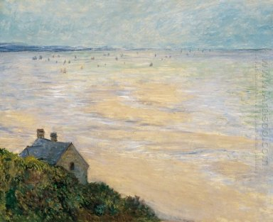 The Hut At Trouville Low Tide 1881